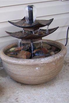 diy water fountain, diy, outdoor living, Fung Shui DIY Water Fountain