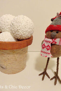 a snowball craft, crafts, seasonal holiday decor