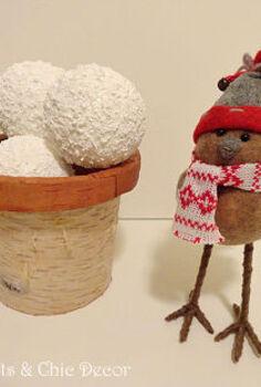 a snowball craft, crafts, seasonal holiday decor