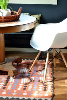 how to make a rug with a dropcloth and paint, crafts, flooring, painting
