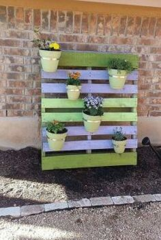 cute planter project, flowers, gardening, pallet, Cute cheap pallet project photo 1