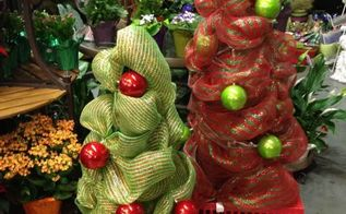 tomato cage christmas trees, christmas decorations, seasonal holiday decor, Add some balls in contrasting colors