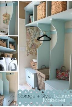 organized cottage style laundry room and mudroom renovation, closet, home decor, laundry rooms, storage ideas, Vintage Cottage Style Laundry Room Makeover