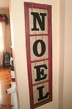 old window makes noel sign, christmas decorations, crafts, repurposing upcycling, seasonal holiday decor, Old Window Noel Sign