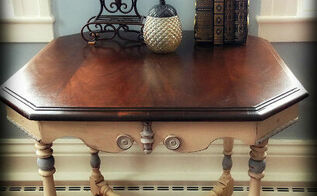 the antique table throwback transformation, painted furniture, After