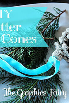 diy glitter pine cones, christmas decorations, crafts, seasonal holiday decor, Glitter Pine cones