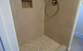 keep your pebble shower floor looking natural, bathroom ideas, home improvement, home maintenance repairs