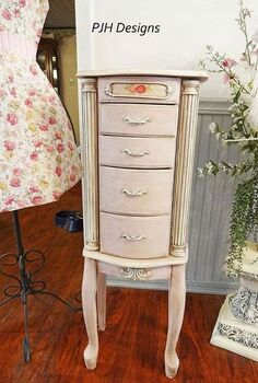 refurbished jewelry armoire, painted furniture, shabby chic