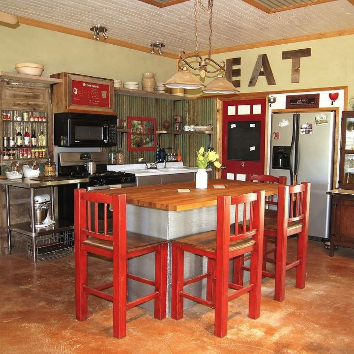 Small rustic kitchen makeover hometalk - Kitchen units designs for small kitchens ...