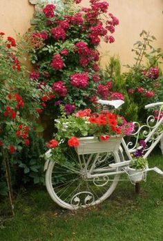 what to do with that old bicycle, gardening, repurposing upcycling