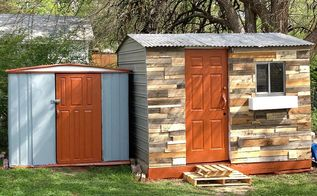 ugly shed redo with mostly reclaimed materials, curb appeal, diy, outdoor living, repurposing upcycling, After