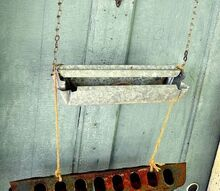 what could i put in these, outdoor living, repurposing upcycling, The galvanized and old rusty feeders