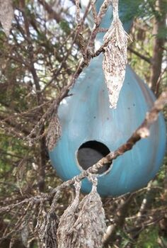 birdhouse gourds, gardening, repurposing upcycling
