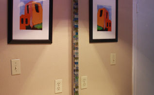 mosaic tile framed mirror, bathroom ideas, home decor, tiling, Hot glued mosaic tiles