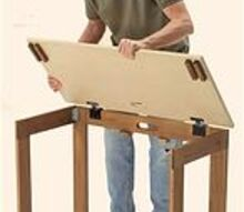 q what type of hinges are used on the top of this folding table, crafts, diy, painted furniture