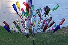 the magic and mystery of bottles trees revealed, gardening, outdoor living, repurposing upcycling