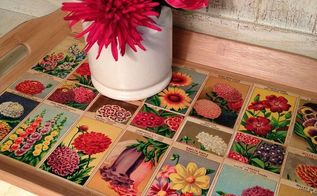 french flower seed tray, crafts, decoupage, Perfect for any spring or summer decor