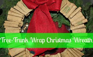 diy tree wrap christmas wreath, christmas decorations, crafts, seasonal holiday decor, wreaths, Easy tree wrap wreath with red burlap bow See my post for tutorial details Very simple and cheap