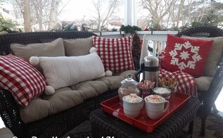 our christmas side porch 2013, christmas decorations, outdoor living, porches, seasonal holiday decor