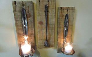 candle and candle snuffer holder, crafts, home decor, pallet, repurposing upcycling, woodworking projects, Snuffer is removable It hangs by the two pallet nails to use