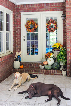 decorating the house for fall, porches, seasonal holiday decor