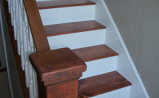 staircase makeover new treads and beadboard risers, diy, home improvement, stairs, woodworking projects, The finished staircase Oh so much better