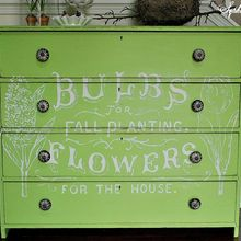 fresh and green flower ad dresser, flowers, painted furniture