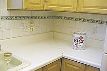 a counter top make over with paint that will wow you, countertops, diy, how to, kitchen design, painting