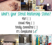 what s your stencil relationship status, diy, home decor, how to, painting