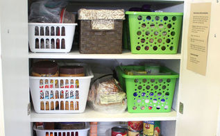 organizing the kitchen, kitchen design, organizing, Using baskets from the Dollar Tree helped me organize my small pantry