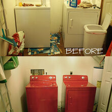 10 washer amp dryer makeover, appliances, laundry room mud room, painting, Before and After Painted appliances