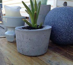 diy concrete planters concrete masonry container gardening diy flowers gardening