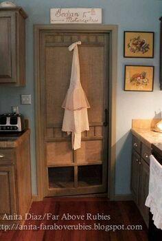 repurposed vintage screen door, doors, home decor