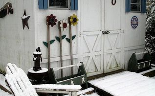 winter wonderland, outdoor living, Garden Shed in the snow