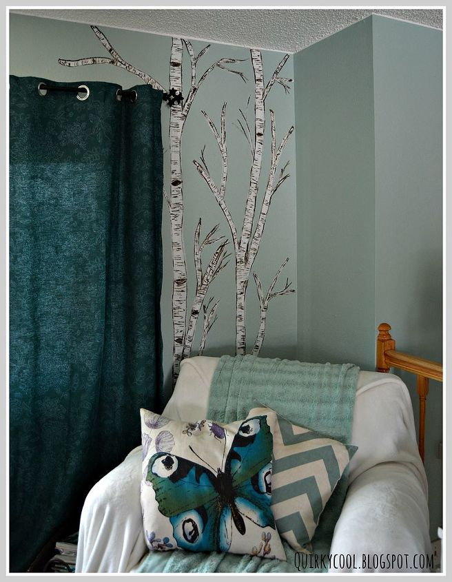 A birch tree mural on a gloomy day hometalk for A perfect day mural