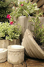 diy concrete and cement planters and candle holders, concrete masonry, container gardening, crafts, gardening, making a selection of planters and tea light holders out of cement and concrete