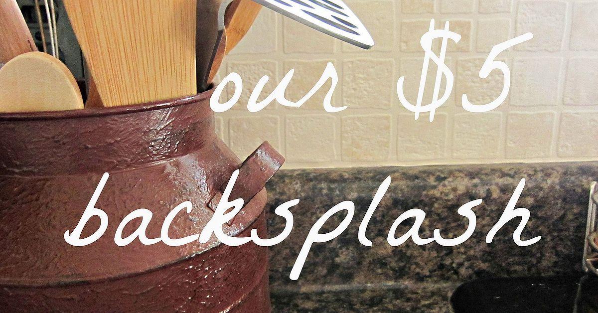 easy and inexpensive kitchen backsplash hometalk. Black Bedroom Furniture Sets. Home Design Ideas