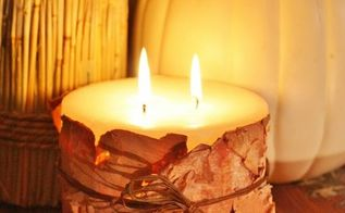 do you have a birch tree make birch bark candles, crafts, seasonal holiday decor, Birch Bark Candles made with birch bark from your yard