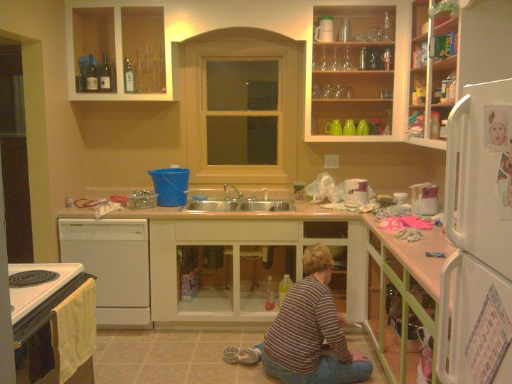 From Green To A Dream Our Kitchen Cabinets Get Painted