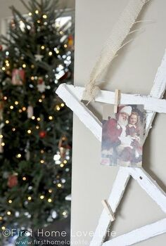snowy star holiday card picture holder, crafts, seasonal holiday decor