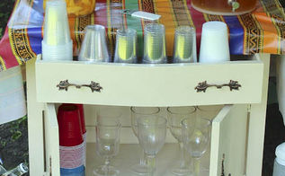 want to come to a virtual garden party part 2, diy, flowers, gardening, succulents, Turn a washstand into a serving station