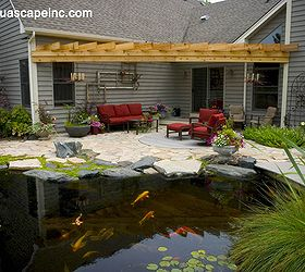 Outdoor Living With Water Gardens, Curb Appeal, Decks, Outdoor Living, Patio ,