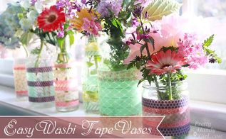 simple washi tape vases springcolors, crafts, easter decorations, seasonal holiday decor