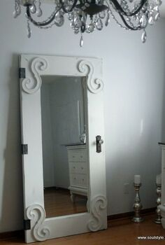 creating a vintage door from an ikea mirror, doors, painting, IKEA Mongstad Mirror