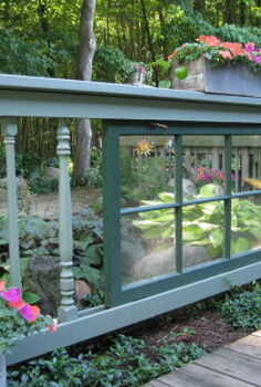 shade garden fence, fences, gardening, Old window fence