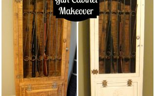 antique gun cabinet makeover, chalk paint, kitchen cabinets, painted furniture, rustic furniture