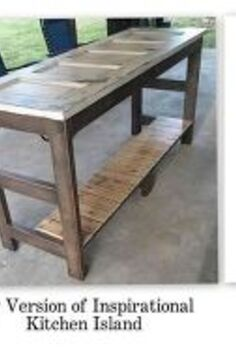 kitchen island made from an old door, diy, repurposing upcycling, woodworking projects