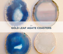diy gold leaf agate coasters, crafts, DIY Gold Leaf Agate Coasters