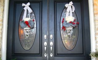 summer wreaths, crafts, patriotic decor ideas, seasonal holiday decor, Summer Front Door Wreaths