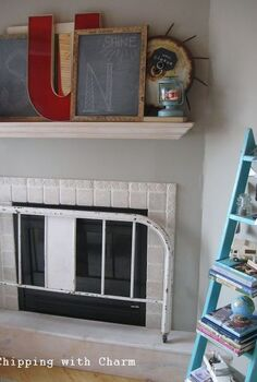 whimsical spring mantel begging for sunshine, fireplaces mantels, seasonal holiday decor
